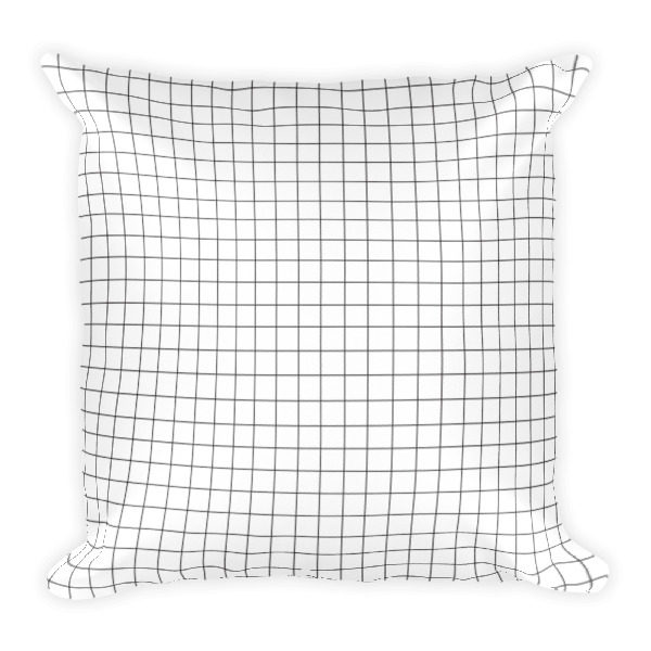 Square Grid Pattern Pillow